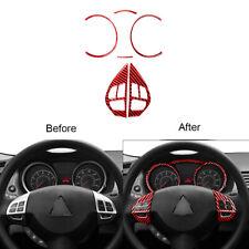 Red Carbon Fiber Speedometer Steering Wheel Cover Trim Fit For Mitsubishi Lancer (Fits: Mitsubishi Lancer)