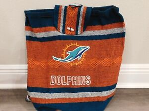 NFL Miami Dolphins Unisex Adult Baja Jerga Backpack