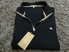 Mens Burberry Pullover XL NWT Black