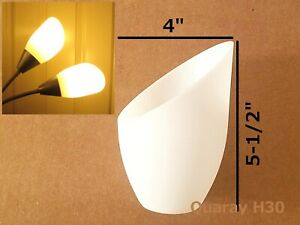 2-Pack Quaray H30 Replacement Plastic Lamp Shade for Torchiere Floor Lamp