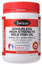 Swisse Ultiboost Odourless High Strength Wild Fish Oil Cap X 200