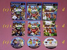 3x PS2 _ Die Sims 2 & Die Sims 2 Gestrandet & Die Sims 2 Haustiere _Erstausgaben