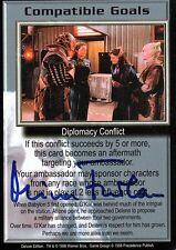 Babylon 5 Ccg Mira Furlan Deluxe Edition Compatible Goals Autographed