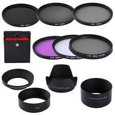 62mm UV CPL FLD ND2 4 8 Lens Filter Kit + Hood For Tamron AF 18-250mm/18-200mm