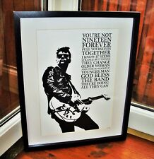 The Courteeners/Liam Fray/Not Nineteen Forever A3 size art print/poster