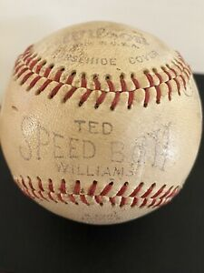 Ted Williams 1940's Speed Ball Vintage Horsehide Baseball, Wilson No. A1282
