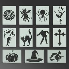 Halloween Stencil Horror Scary Mylar Sheet Painting Wall Art Craft 190 Micron
