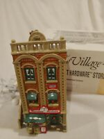 Dept 56 Snow Village Mainstreet Hardware Store 51535 Retired 1990