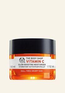 The Body Shop Vitamin C  Glow Boosting Moisturiser Dull Tired Grumpy Skin 50 ml