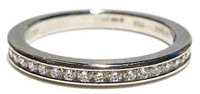 DE BEERS 950 PLATINUM & .45CT DIAMOND STACKABLE WEDDING ENGAGEMENT RING BAND SZ8