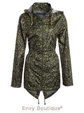 Animal Print Parka Machine Washable Coats & Jackets for Women
