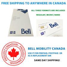 Bell SIM Card - Multi SIM - FREE SHIPPING