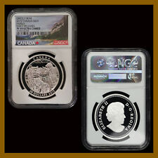 Canada 20 Dollars Silver Coin, 2015 Grizzly Bear Family NGC PF 69 Early Releases
