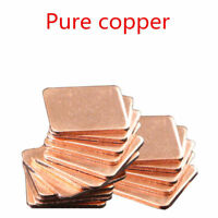 10pcs 15x15x1mm Heatsink Copper Shim Thermal Pads for Laptop GPU CPU VGA
