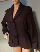 Frank Walder Womens Wool Rich Blazer Jacket UK Size 14 EU 42 Brown BNWOT