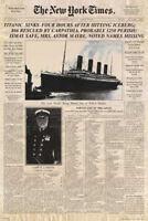 Titanic - Newspaper Zeitung New York Times Film - Poster Druck - Größe 61x91,5cm