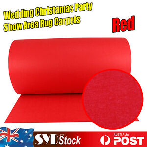 Red Felt Carpet Show Area Rugs Wedding Aisle Runners Christmas Party Decoration