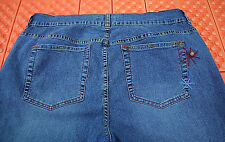 Avenue Capri Jeans Size 14 With Bead Bling  36X20 Capris Shorts