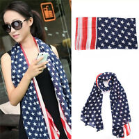 Women American Flag Pareo Dress Beach Bikini Swimwear Sarong Cover Up Scarf WrRI