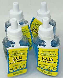 4 Bath & Body Works Baja Cactus Home Fragrance Wallflower Bulb Refill .8 Oz Ea
