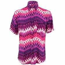 Men's Loud Shirt TAILORED FIT Abstract Purple Pink Retro Psychedelic Fancy