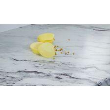 Marble Veneto Calcutta Effect Kitchen Worktop 40mm, Laminate  3m 600mm 40mm