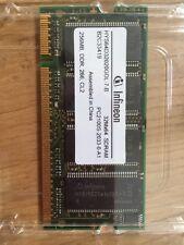 Mémoire Vive 256mb Pc2100S Sodimm Sdram Ddr Ram Infineon Conpaq Pc Mac C. Neuf