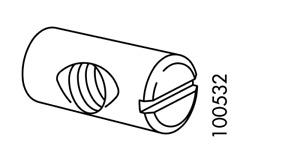 4x Ikea Cross Dowel Metric Nut M8 20mm Length Steel Part # 100532