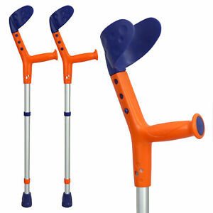 Kids Walking Forearm Crutches (1 Pair) Good for Children and Adults up to 220lbs