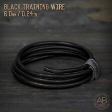 American Bonsai Black Aluminum Training Wire - 6.0mm - 100 grams - 4ft - 100g