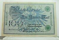 KM# 35 - 100 mark 1908 - TTB+ - Billet Allemagne - N7601