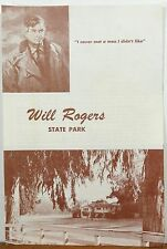 1963 Will Rogers State Park Los Angeles California vintage brochure & map b