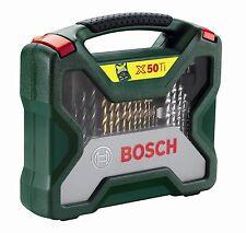 Bosch 50 Piece X Line Accessory Set Drill Bits Bit NEW FREE P&P