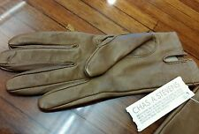 Chas A Stevens Brown leather Nwt original gloves. Size 7 old school