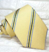 Striped necktie dress  Wool & Silk classic 3.34 in TRE brand Italy casual ties