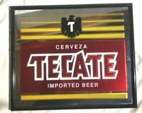 Vintage 1977 TECATE Beer Bar Mirror Sign