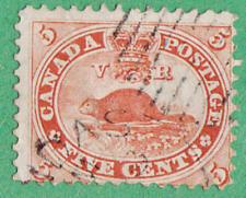 Canada #15 used 5c Beaver 1859 cv $37.50