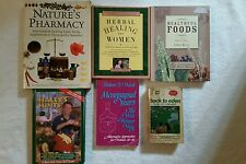 Lot of 6 Homeopathic/Herbal Healing,Kloss,Gladstar,G&R.Haley,Susaan S.Weed
