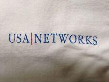 Vintage USA Networks Logo  White T Shirt L  100% Cotton Sci Fi Home Shopping