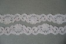 Vintage Pure Cotton Lace Trim. Pale Pink. 2 Metres