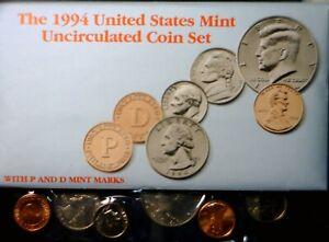 1993 US Mint Set CH BU LOT of 10 p & d Coins Original Cello + COA & Envelope  NR