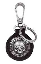 Harley-Davidson Willie G. Skull Medallion Key Chain Fob Black 99443-06v