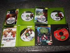 LOT 4 XBOX:Tiger Woods 2003,2004 FIGHT NIGHT Round 3 POKER Orig Art/Case/Man VG