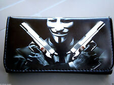 ANONYMOUS TOBACCO POUCH CASE WALLET PURSE V FOR VENDETTA GUNS MASK