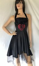 Iron Fist sz S Black Widow Rockabilly Heart Dress Goth Punk