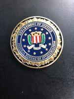 FBI DEPARTMENT OF JUSTICE FEDERAL BUREAU INVESTIGATION CHALLENGE COIN