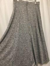 NWT Womens Large(Sz 10) Gray Knit Button Maxi Skirt