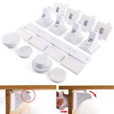 10 x Bebés y niños Bloqueo de cerradura magnética Cerradura de gabinete