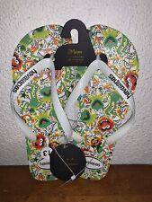 Disney The Muppets Animal Kermit The Frog Havaianas Flip Flops U.S. Size 13 NEW