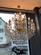 Doré pass argent-O lustre Veritable cristal murale éclairage wandkronleuchter